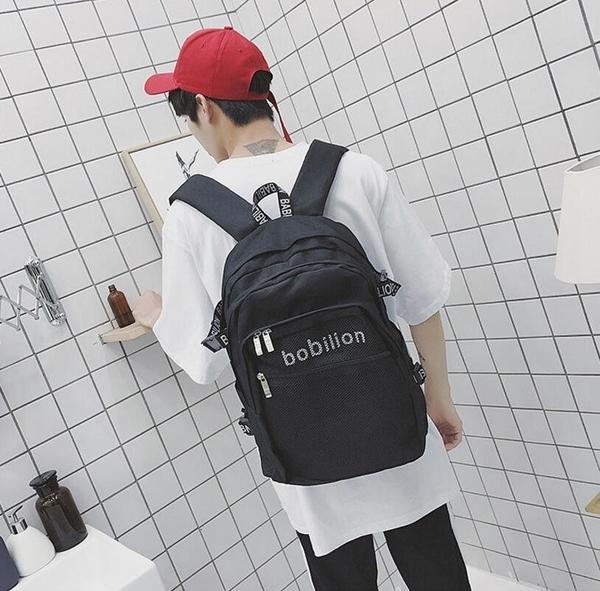 FINDSENSE品牌 日系 時尚潮流 男 大容量 多口袋 旅行背包 多用途背包