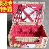 野餐籃 餐具組合-可愛點點裡布兩人份郊遊用品68e13【時尚巴黎】