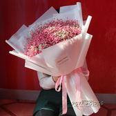 超大粉色藍色滿天星干花花束520閨蜜生日畢業母親節禮物ins  泡芙女孩輕時尚 YDL