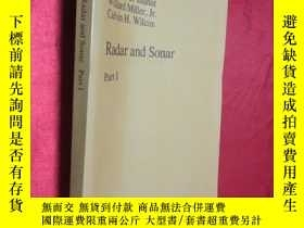 二手書博民逛書店Radar罕見and Sonar: Part I (The IM