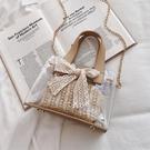 果凍包洋氣小包包女2020韓版少女百搭側背斜背包時尚透明果凍包交換禮物