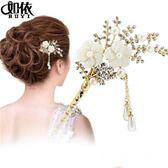髮飾-如依配飾古典簪子花朵韓國發夾發簪步搖流蘇發釵新娘盤發飾頭飾品-奇幻樂園