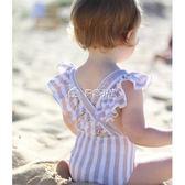 女童泳衣 兒童泳衣女小公主女童連體韓國嬰兒寶寶女孩游泳衣可愛泳裝 多色小屋