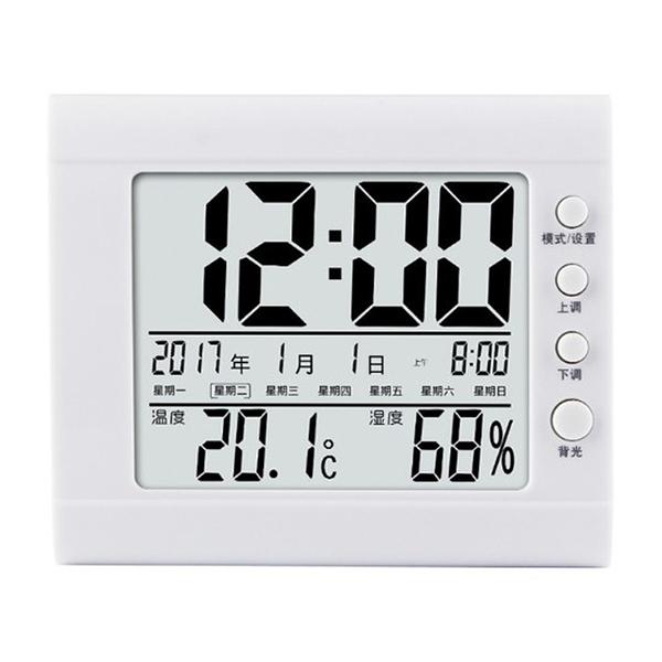 多功能電子溫濕度計 日曆時鐘鬧鐘溫溼度計