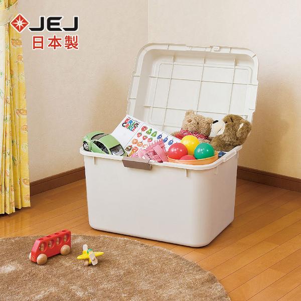 【日本JEJ】日本製 戶外室內大型收納箱-69L