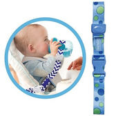 Lucky Baby 水壺水杯防掉帶扣-藍綠點點