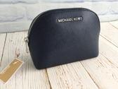 美國MICHAEL KORS (MK)紋防刮 小貝殼造型 手拿包藍色 **限時搶購 **