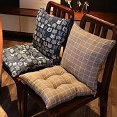 坐墊靠背一體辦公室椅子靠墊椅墊連體加厚墊子【愛物及屋】