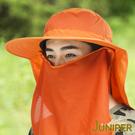 防曬帽子-戶外抗紫外線UV防潑水全方位防曬高頂漁夫帽+披風J7243 JUNIPER