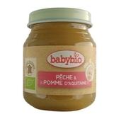 法國Babybio寶寶鮮果泥系列-生機蜜桃蘋果泥130g[衛立兒生活館]
