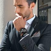 手錶男 男士手錶運動石英錶 防水時尚潮流夜光精鋼帶男錶機械腕錶【巴黎世家】