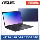 【無線滑鼠3好禮】ASUS E510MA-0501BN4120 (Celeron N4120/8G/256G/Windows 10 Home/FHD/15.6)夢想藍
