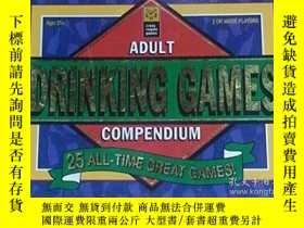 二手書博民逛書店Adult罕見Drinking Games Compendium