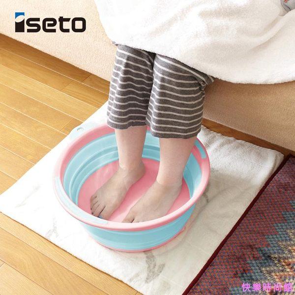 日本進口硅膠旅行大容量折疊盆便攜式寶寶洗臉盆洗衣盆大號洗腳盆WJ