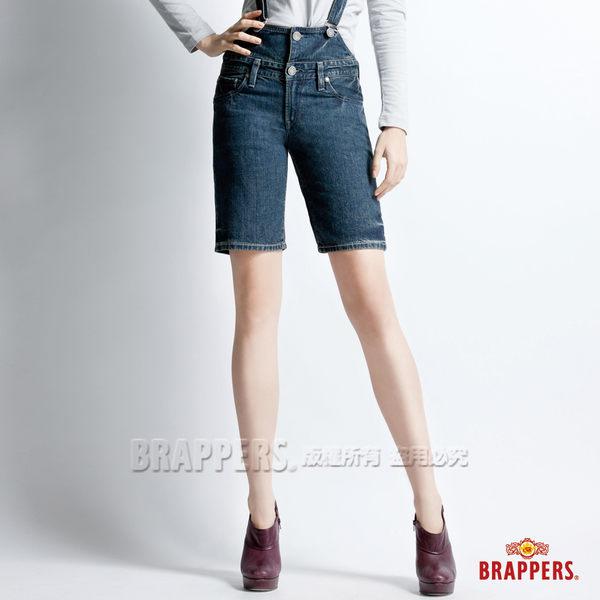 BRAPPERS 女款 女吊帶系列-女用合身吊帶短褲-藍