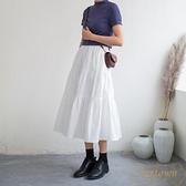 半身裙秋冬女中長款冬裙日系蛋糕裙【繁星小鎮】