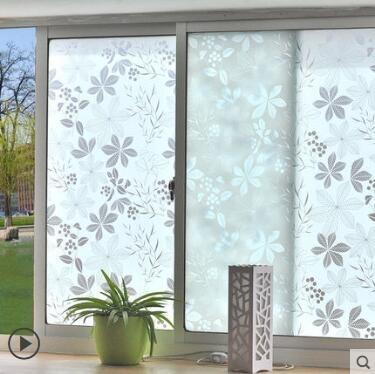 窗戶玻璃貼 仿百葉玻璃貼膜衛生間窗戶貼紙辦公室透光不透明防曬窗貼【限時八五鉅惠】