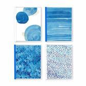 初品/藍 活頁本 創意韓國唯美學生筆記本文具記事日記本子26孔B5 生日禮物 創意