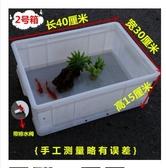 家用烏龜缸小號塑料養龜箱帶排水專用龜池飼養魚盆窩孵化盒白大型 瑪麗蘇DF