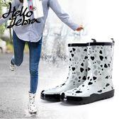 雨鞋女春夏中筒時尚雨靴水靴成人防水鞋韓國防滑女士水鞋膠鞋套鞋【中秋節】