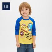 Gap男幼童 Marvel復仇者聯盟系列圓領長袖套頭T恤528216-黃色