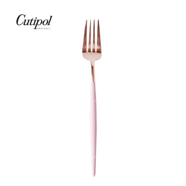 葡萄牙 Cutipol GOA玫瑰金系列18.5cm 點心叉 (粉玫瑰金)