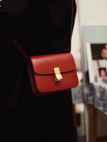 ■現貨在台■專櫃77折■Celine 全新真品 頂級小牛皮 Teen Classic Box 包 紅色