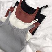 針織吊帶小背心女外穿新款韓版彈力修身短款打底上衣 錢夫人小鋪