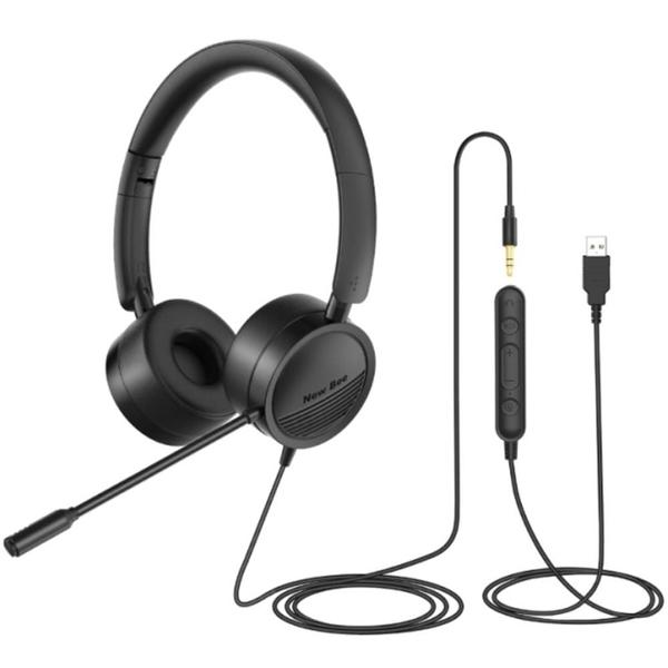【南紡購物中心】【魔耳MOOR】H360 3.5mm USB 二合一專業降噪耳麥