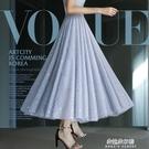 大碼垂感顯瘦網紗裙女半身裙夏春款2021年新款 朵拉朵衣櫥