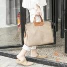 韓版公事包側背斜背書袋文件袋時尚A4資料袋手提包【橘社小鎮】