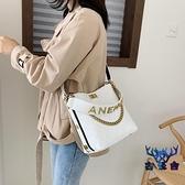 包包女韓版百搭大容量單肩斜挎時尚手提水桶包【古怪舍】