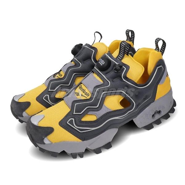 Reebok 休閒鞋 Instapump Fury Trail Shroud 黃 灰 男鞋 防水鞋套 戶外 越野風 運動鞋 【PUMP306】 EG3572