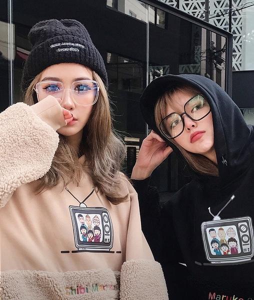 晴崴專區【現貨+預購】女神周揚青同款眼鏡 黑色大框眼鏡 無度數