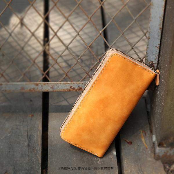 【Solomon 原創設計皮件】復古ㄇ形長夾