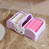 大號雙格洗衣皂盒肥皂盒瀝水家用手提皂籃創意肥皂架香皂碟 聖誕交換禮物