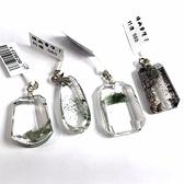 『晶鑽水晶』天然綠幽靈 彩幽墜子 長約23-29mm 招財 事業財 招貴人 男女都可配戴 附鍊子