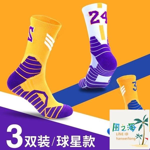 運動襪 籃球襪男高筒精英運動男高筒專業中筒襪子長筒實戰球襪 風之海