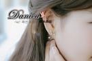 耳環 現貨 韓國 時尚 氣質 甜美 不規則 雪花 珍珠 水鑽耳環 S92008 批發價 Danica 韓系飾品 韓國連線