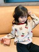 兒童毛衣 女童毛衣2021新款春裝兒童洋氣套頭針織衫女兒童加厚打底衫【快速出貨八折鉅惠】