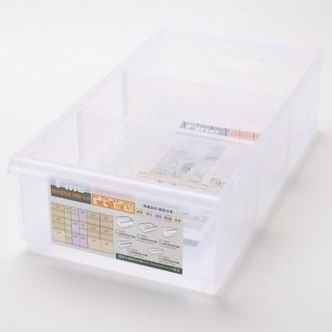FINE 隔板整理盒 附輪 淺型款 11L LF1002 45x24.3x12.8cm