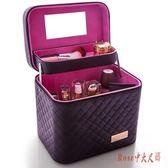 大容量韓版化妝包女多功能層小大號網紅便攜手提化妝品收納盒箱LXY1469【Rose中大尺碼】