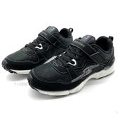 《7+1童鞋》日本月星 MOONSTAR 閃電 抓地魔爪 透氣 機能競速鞋 D423 黑色