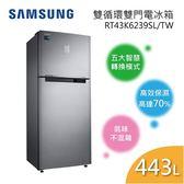 【回函送$1000 送到府安裝】SAMSUNG 三星 RT43K6239SL  雙循環雙門電冰箱 443L 時尚銀