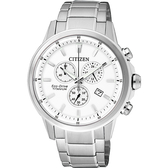 CITIZEN ECO-Drive 鈦金屬計時腕錶-銀/42mm AT2340-81A
