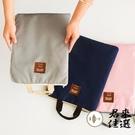【2個裝】素色學生補習袋手拎包A4文件袋拉鏈手提包帆布袋【君來佳選】