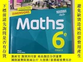 二手書博民逛書店DIMENSIONS罕見Maths 6e CYCLE 3(NOU
