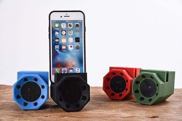 【新二代體積更小 附手機支架】共振感應音響 獅子吼 互感 無線智能 魔術支架 小音箱 低音炮