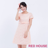 【RED HOUSE 蕾赫斯】花朵蕾絲蝴蝶結洋裝(共2色)