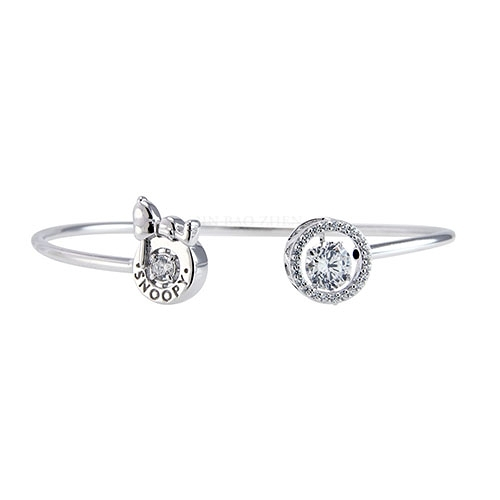 史努比SNOOPY-悠哉午後-純銀手環